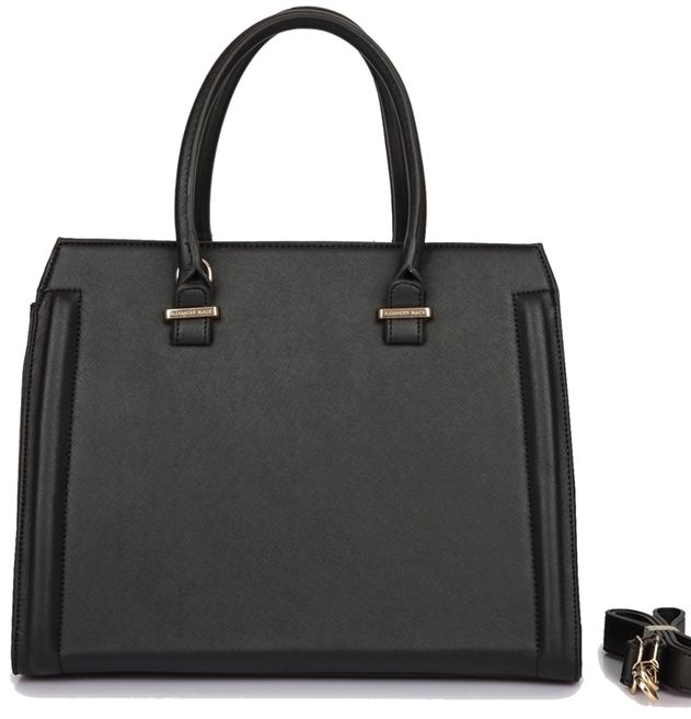 Klasyczna torebka kuferek Emily Black