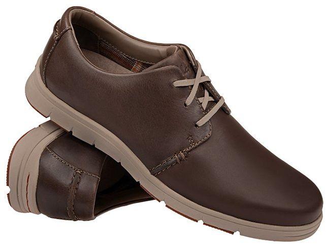 Półbuty CLARKS Milloy Vibe Dark Brown Brązowe Sneakersy