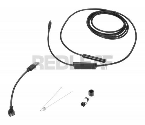 Redleaf RDE-105US - Endoskop USB elastyczny kabel 5 m