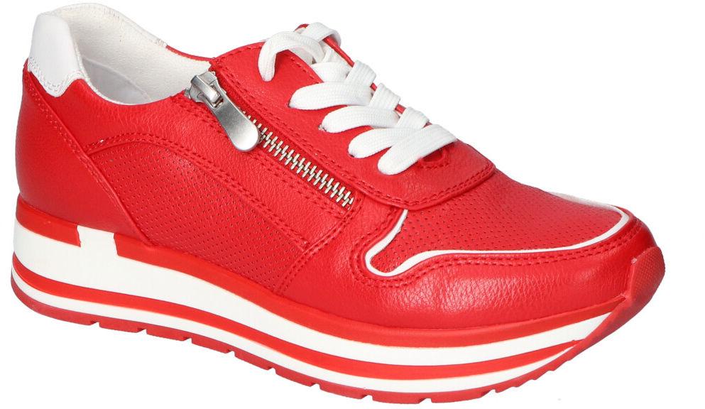 Adidasy Marco Tozzi Czerwone
