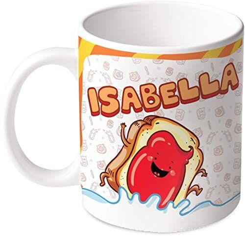 M.M. Group Filiżanka z imieniem i znaczeniem Isabella, 30 ml, ceramika, wielokolorowa