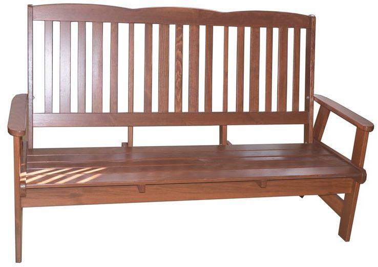 Ławka ogrodowa drewniana LUISA 3-osobowa
