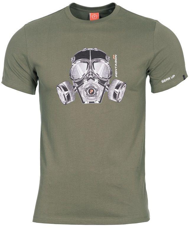 "Koszulka T-shirt Pentagon ""Gas-Mask"" - Olive (K09012-06)"