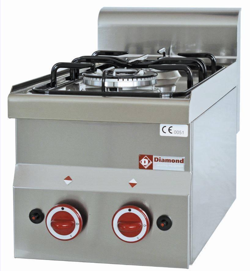 Kuchnia gazowa 2 palnikowa 6900W