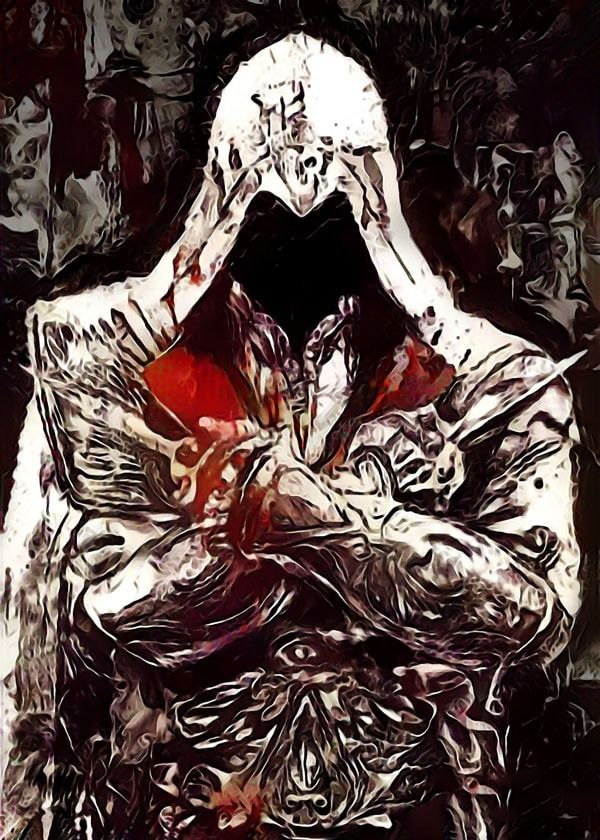 Legends of bedlam - ezio auditore, assassins creed - plakat wymiar do wyboru: 50x70 cm