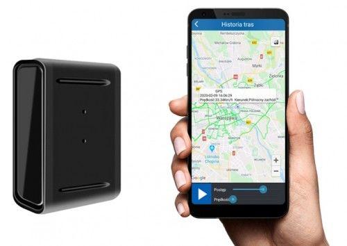 Mały Lokalizator GPS HERMES hermetycznie zamknięty silny magnes neodymowy