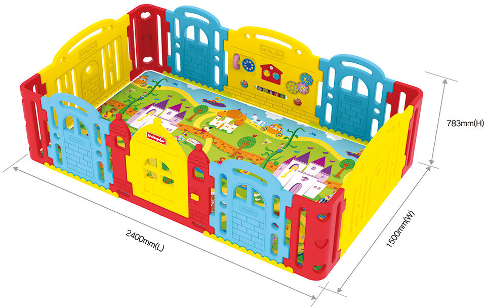 Dwinguler - Castle Rainbow - zamek do maty edukacyjnej 2,3x1,4m (wiek 0-7 lat)