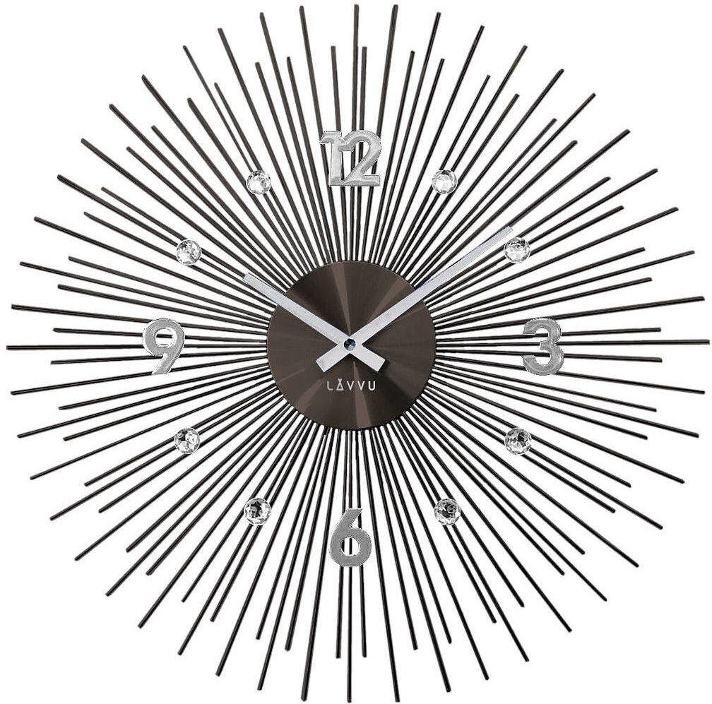 Zegar ścienny LAVVU LCT1143 z kryształkami, średnica 49,5 cm