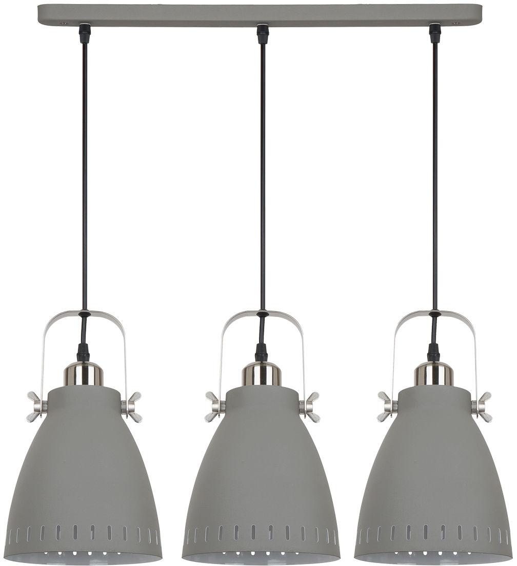 Italux lampa wisząca Franklin MD-HN8026S-3-GR+S.NICK szara potrójna 59cm