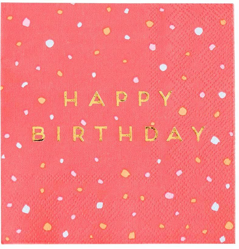 Rozmawiające stoły opakowanie 16 rozmiarów złotej folii papierowej idealne przyjęcie urodzinowe w popołudniowej herbaty, róża 25 cm serwetka koktajlowa, opakowanie 16
