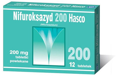 Nifuroksazyd 200mg, 12 tabletek