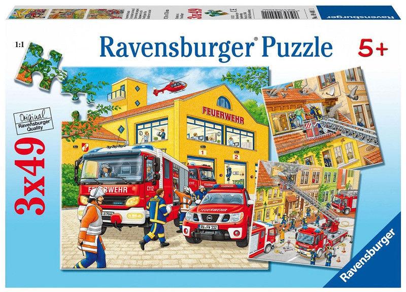 Ravensburger - Puzzle Strażacka ekipa 3 x 49 elem. 094011