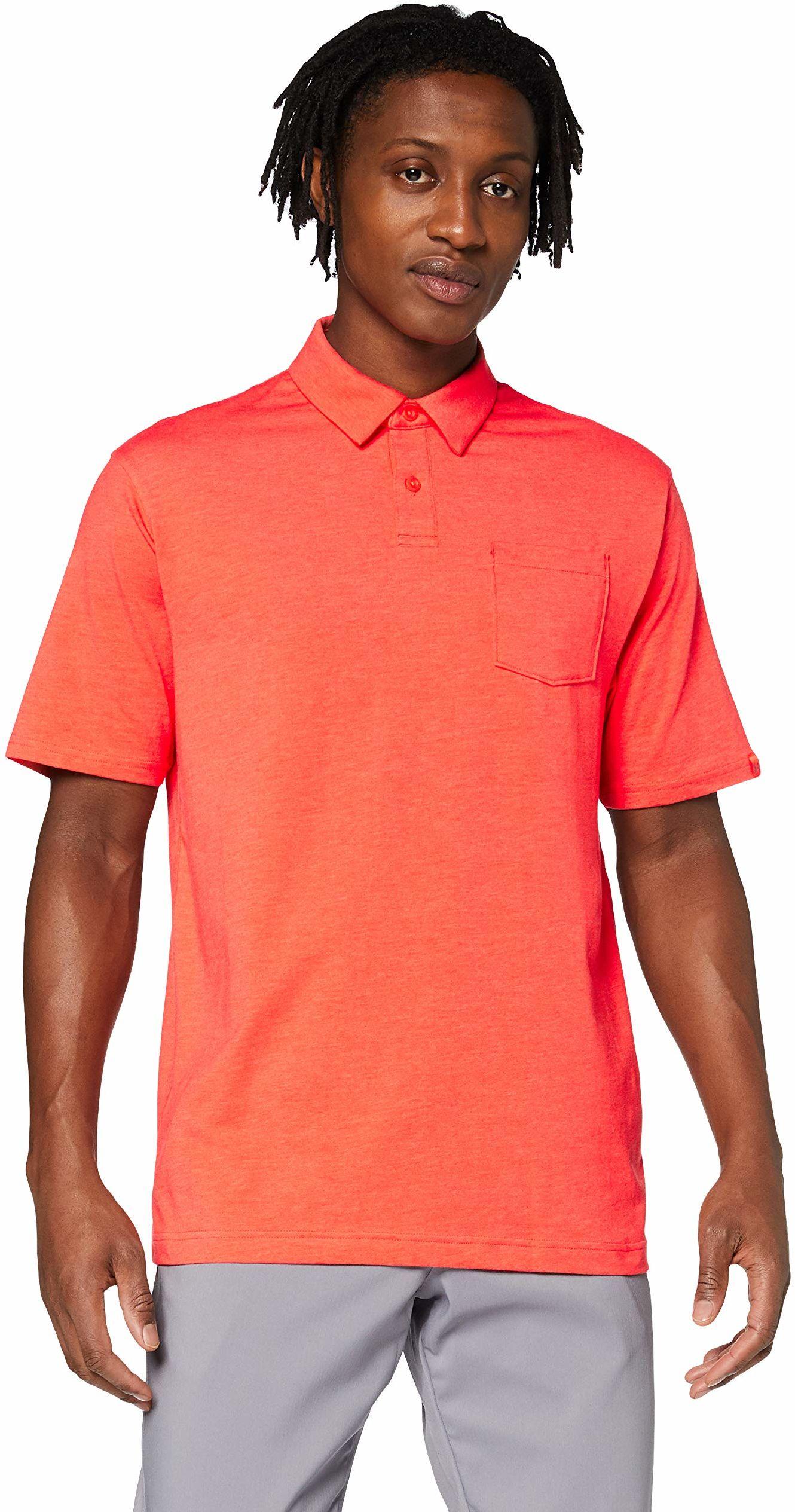 Under Armour męska koszulka polo Charged Cotton Scramble Polo, oddychająca koszulka sportowa, szeroki krój czerwony czerwony S
