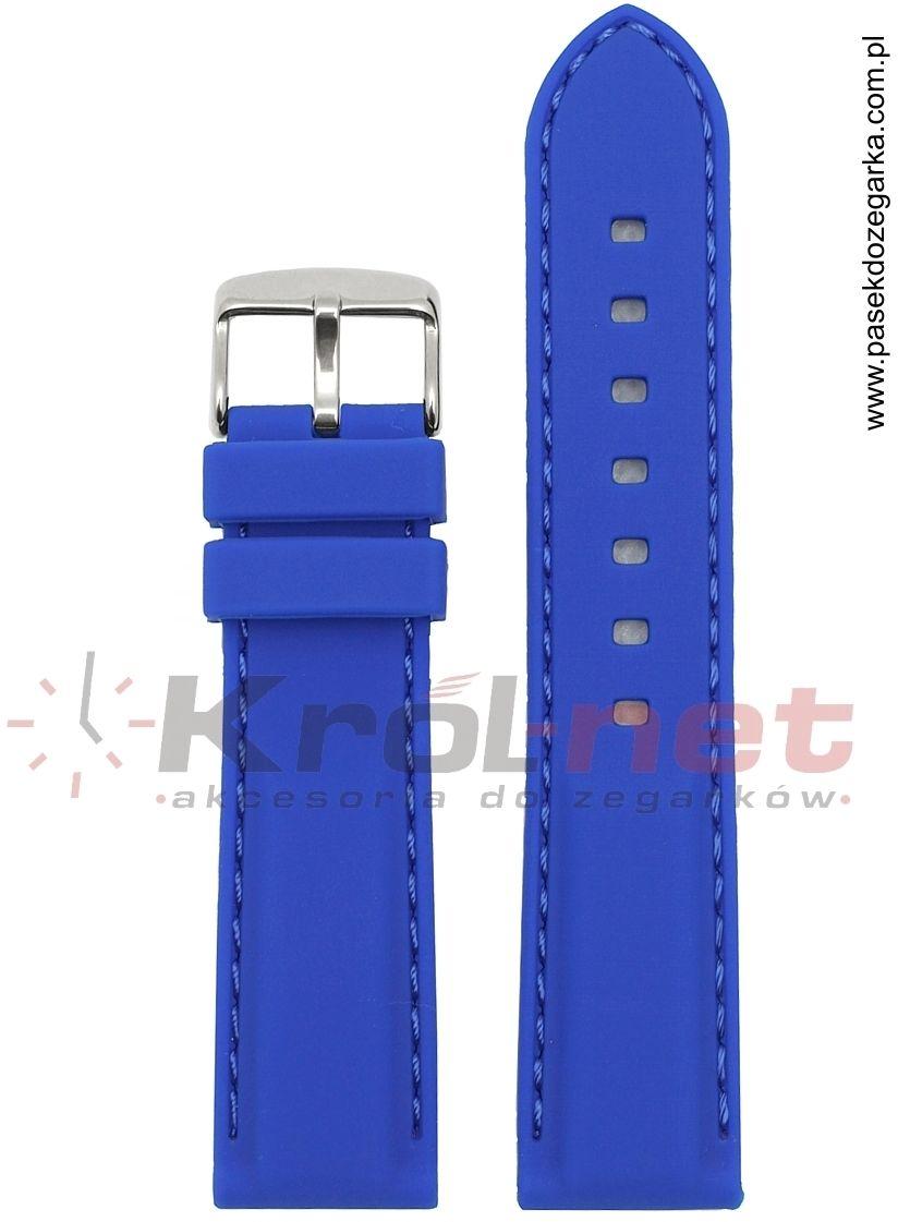Pasek RP051NIEB/22 - niebieski, silikonowy