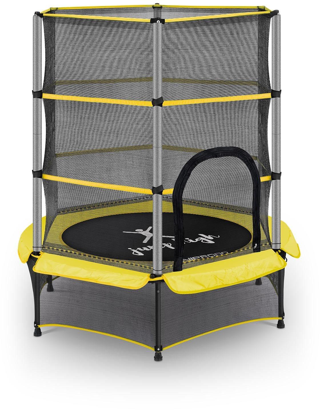 Trampolina dla dzieci - żółta - do 50 kg - 140 cm - Uniprodo - UNI_TRAMPOLINE_02 - 3 lata gwarancji/wysyłka w 24h