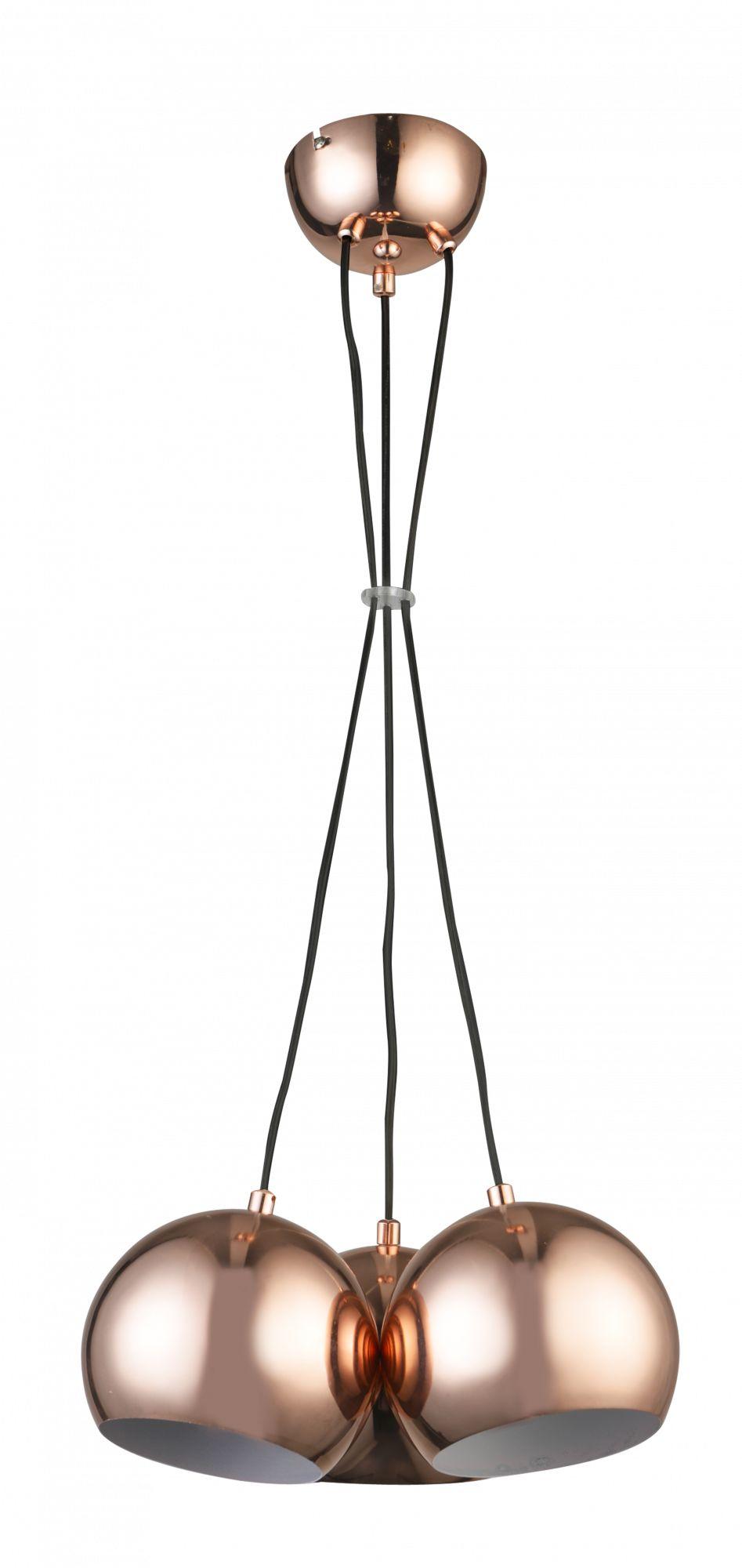 Lampa wisząca Rame 3 LP-2014/3P Light Prestige nowoczesna oprawa w kolorze miedzianym