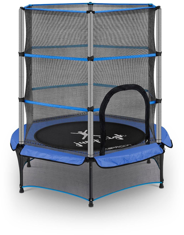 Trampolina dla dzieci - niebieska - do 50 kg - 140 cm - Uniprodo - UNI_TRAMPOLINE_03 - 3 lata gwarancji/wysyłka w 24h