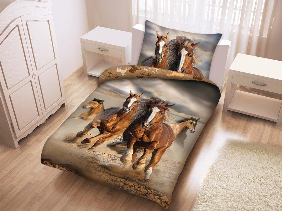 Pościel Bawełniana Mustang Konie w Biegu H-0092BL