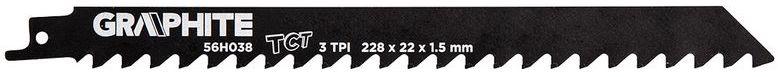 Brzeszczot do piły szablastej HM 228x22x1,5mm 3TPI 56H038