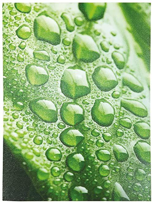 LAROOM 12350 obraz ścienny, krople deszczu zielony