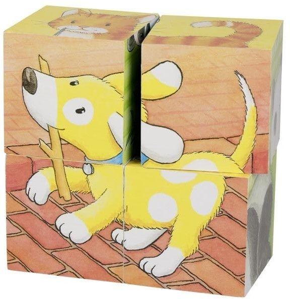 Goki puzzle sześcienne małe zwierzaki