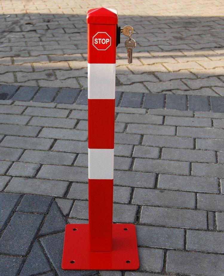 Blokada słupek zapora parkingowa I składana na klucz górny
