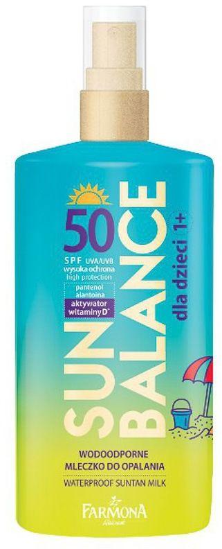 SUN BALANCE Wodoodporne mleczko do opalania dla dzieci 1+ SPF50 150ml