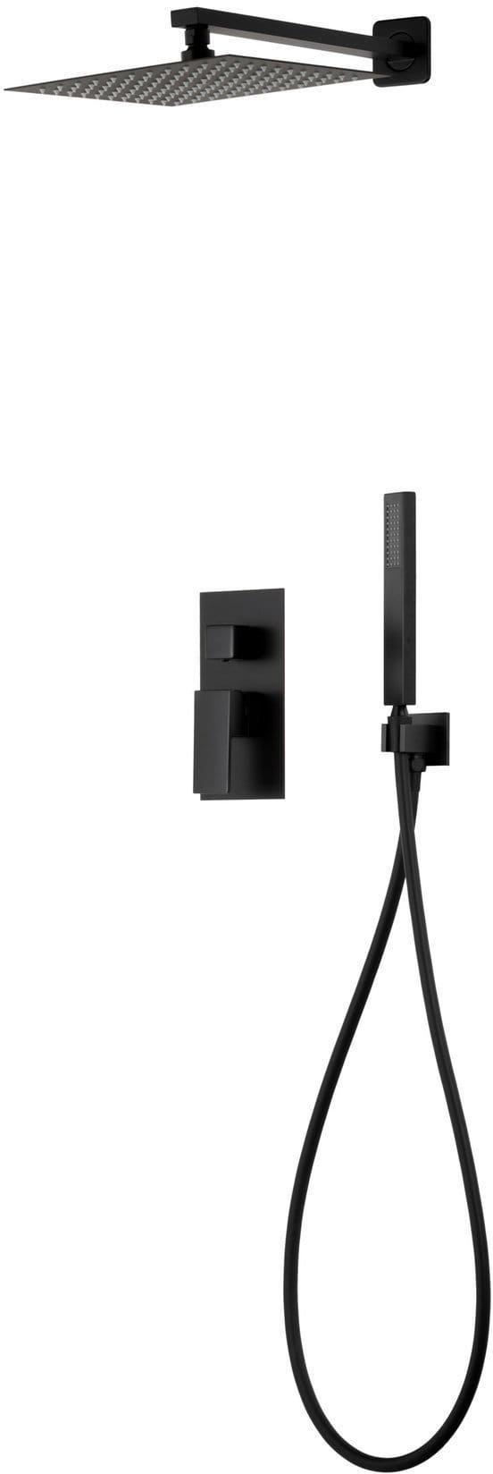Corsan Prysznicowy zestaw podtynkowy czarny z mieszaczem Z01MBL