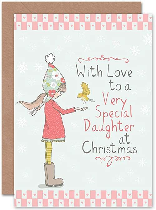 Wee Blue Coo Kartka świąteczna księżniczka specjalna miłość dziecko
