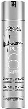 Loreal Infinium Pure Extra Strong bezzapachowy bardzo mocny lakier do włosów 500 ml