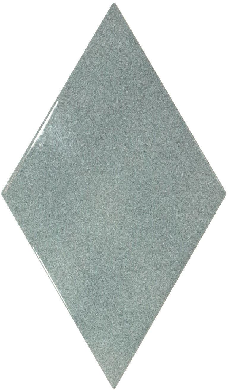 Rhombus Wall Ash Blue Smooth 15,2x26,3