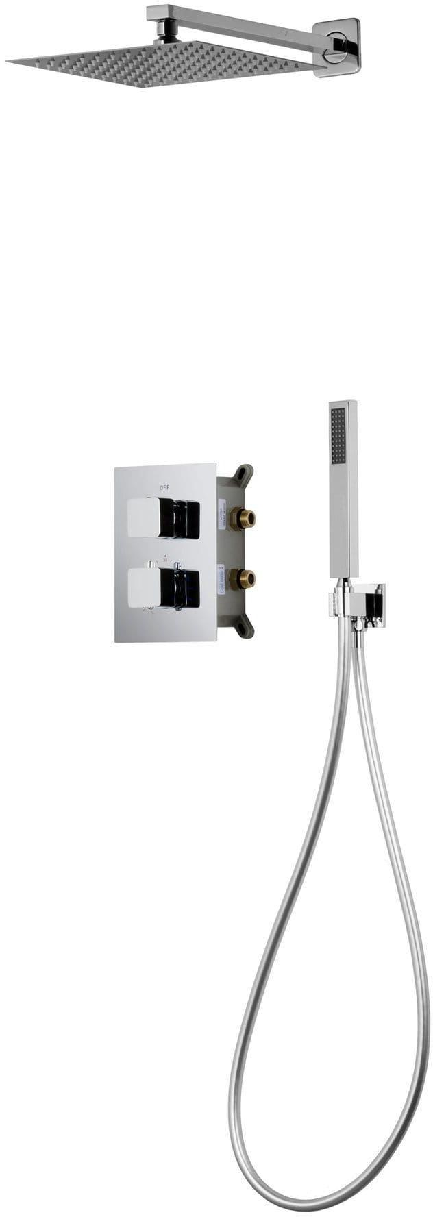 Corsan Prysznicowy zestaw podtynkowy chrom z termostatem Z01TCH