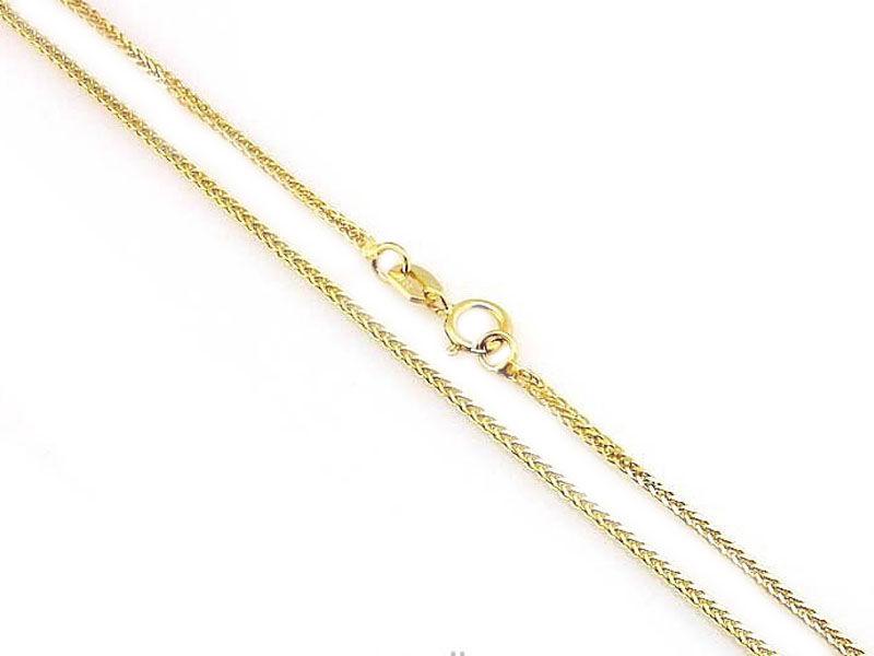 Złoty łańcuszek fox 333 lisi ogon 45cm
