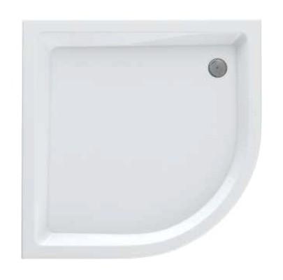 Schedpol Eko 2.0 brodzik akrylowy 80x80x16cm R55 półokrągły biały 3.322
