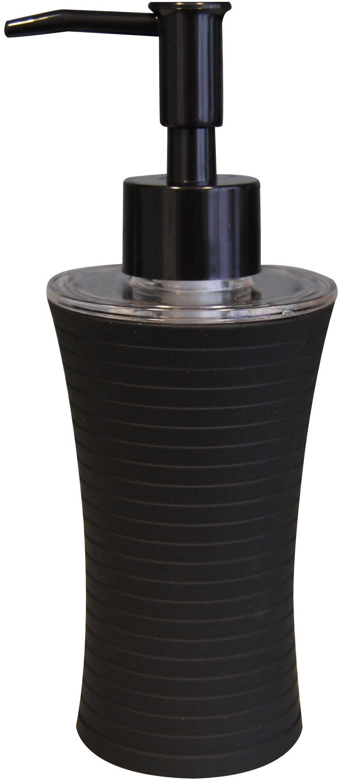Grund TOWER dozownik mydła 7 x 7 x 18,5 cm, czarne akcesoria, 100% polipropylen powlekany gumą, 7 x 7 x 18,5 cm