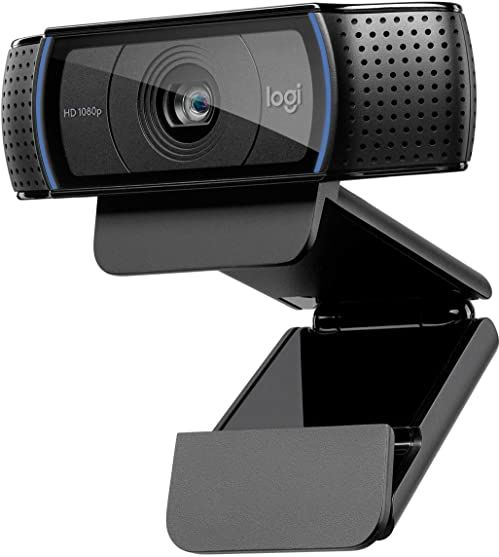 Logitech Hd Pro Webcam C920 Połączenia Wideo W Najwyższej Jakości, Z Rozdzielczością Full Hd 1080P I Osłoną Migawki, Pc/Mac/Chromebook - Czarny,960-001055