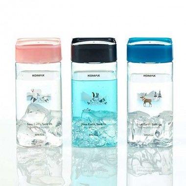 Pojemnik Komax Save Earth Water Bottle Square 430 ml