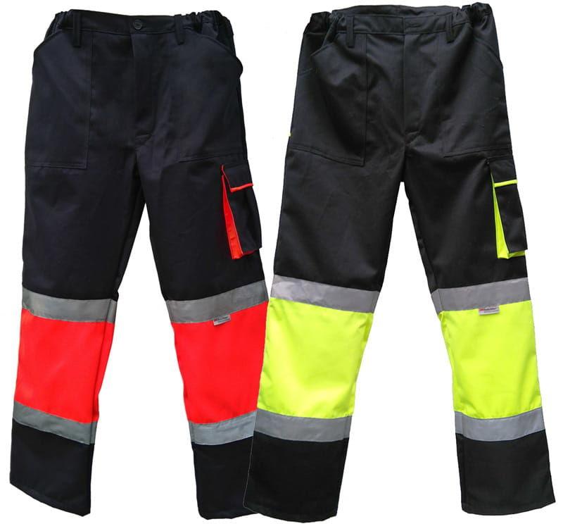 Spodnie robocze do pasa HI-VIZ