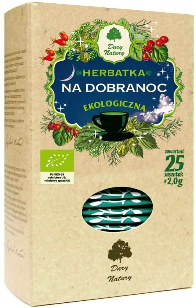 Na Dobranoc Bezsenność EKO 25x2 g Herbata Dary Natury