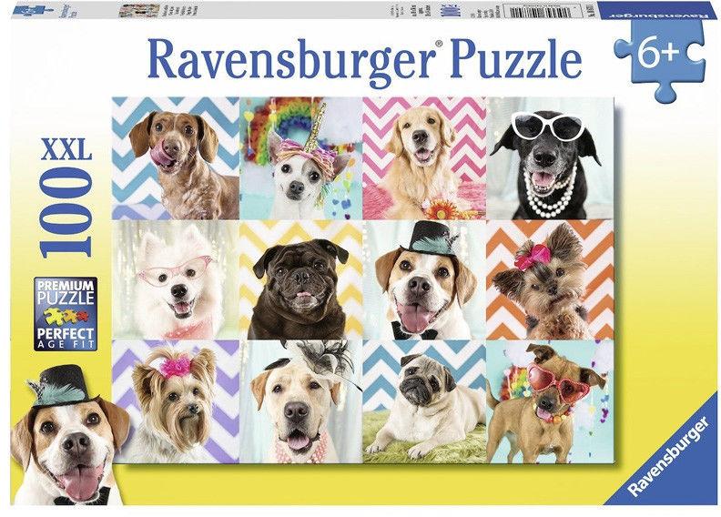 Ravensburger - Puzzle Zabawne psy 100 elem. 108701