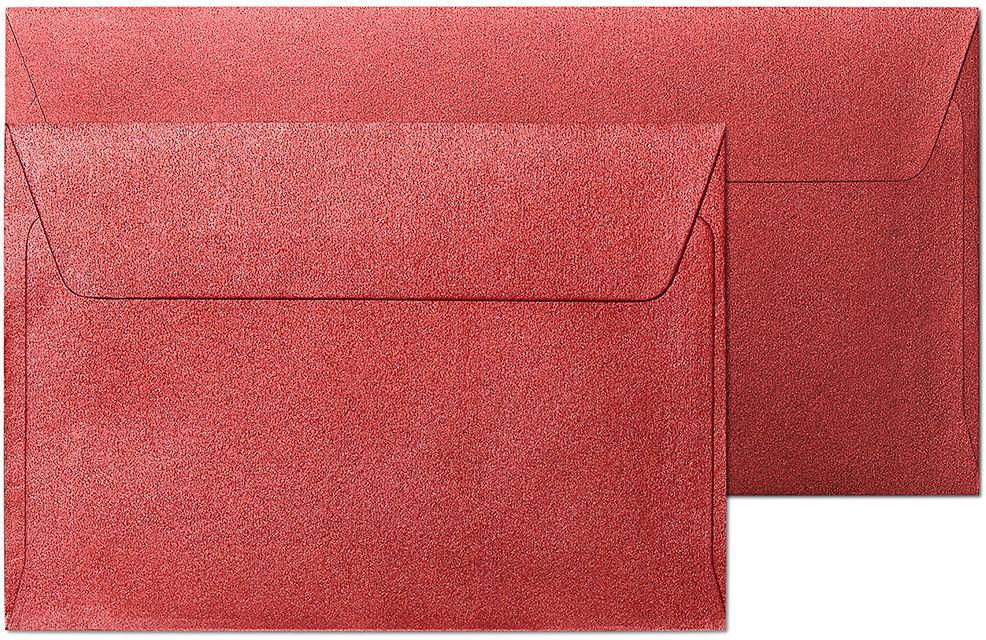 Koperty ozdobne Pearl czerwony C6