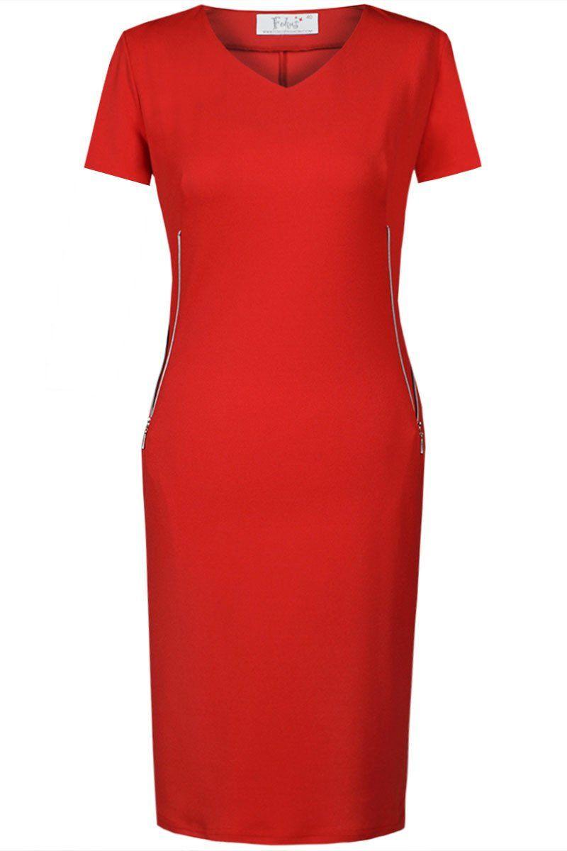 Sukienki Sukienka Suknie FSU869 CZERWONY