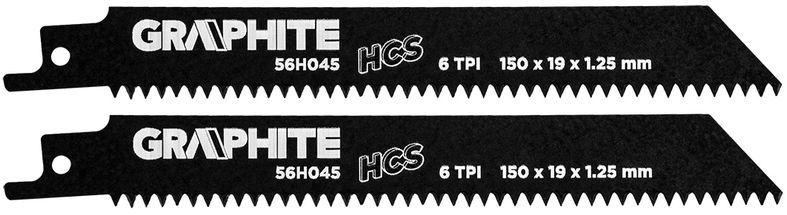 Brzeszczot do piły szablastej HCS 150x19x1,25mm 6TPI kpl. 2szt. 56H045