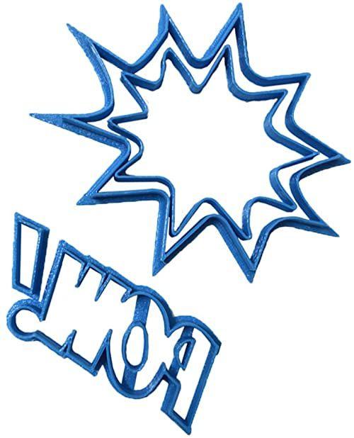 cuticuter POW krajalnica do masy cukrowej, niebieska, 8 x 7 x 1,5 cm