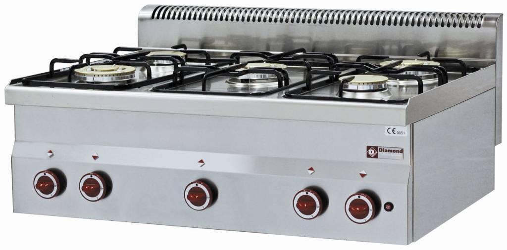 Kuchnia gazowa 5 palników 17400W