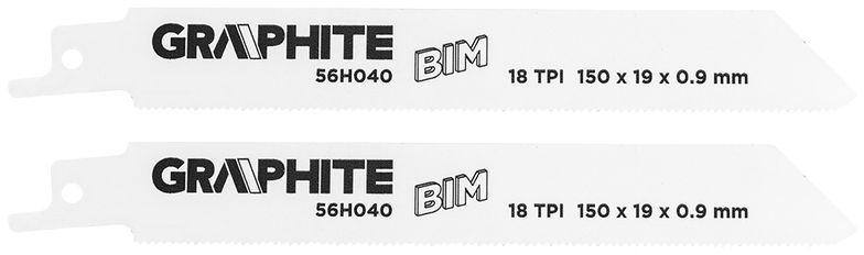 Brzeszczot do piły szablastej BIM 150x19x0,9mm 18TPI kpl. 2szt. 56H040