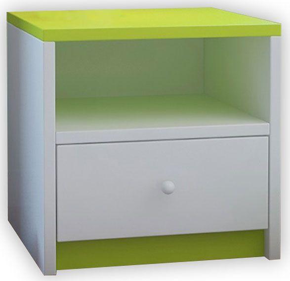 Dziecięca szafka nocna Happy 4X - zielona