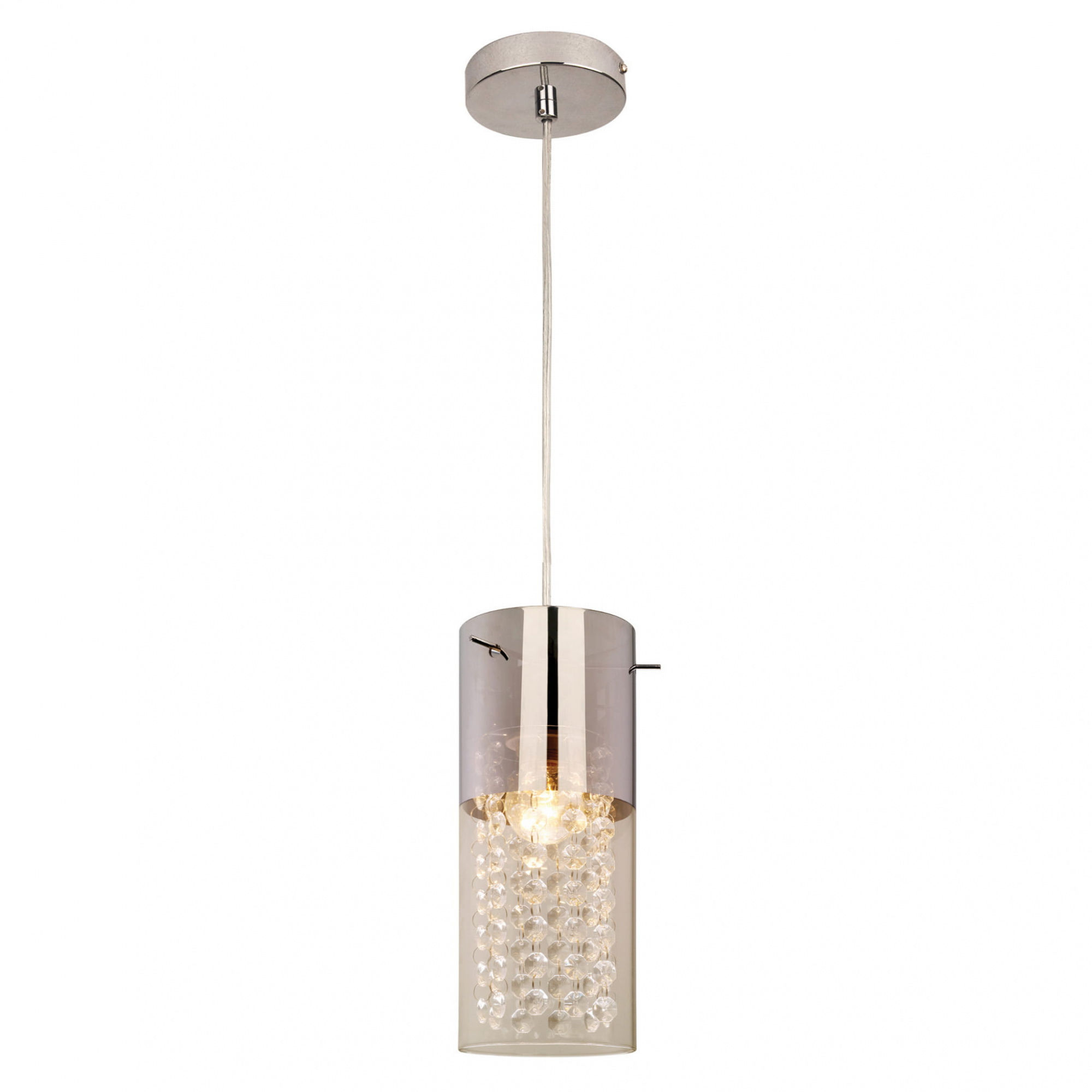 Lampa wisząca Zara 1 LP-5221/1P Light Prestige srebrna oprawa w stylu nowoczesnym