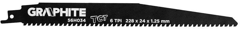 Brzeszczot do piły szablastej HM 228x24x1,25mm 6TPI 56H034