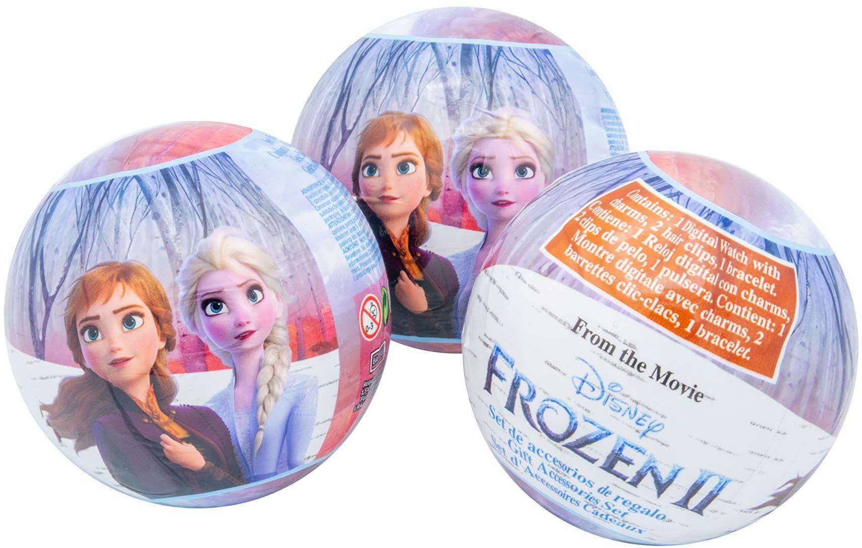 Disney Frozen Diney Frozen II kula niespodzianka, 7 cm, z wyświetlaczem LCD, bransoletką, 2 zawieszkami na zegarek i 2 spinkami do włosów 1